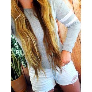Tops - Ultra soft varsity knit long sleeve 🌿